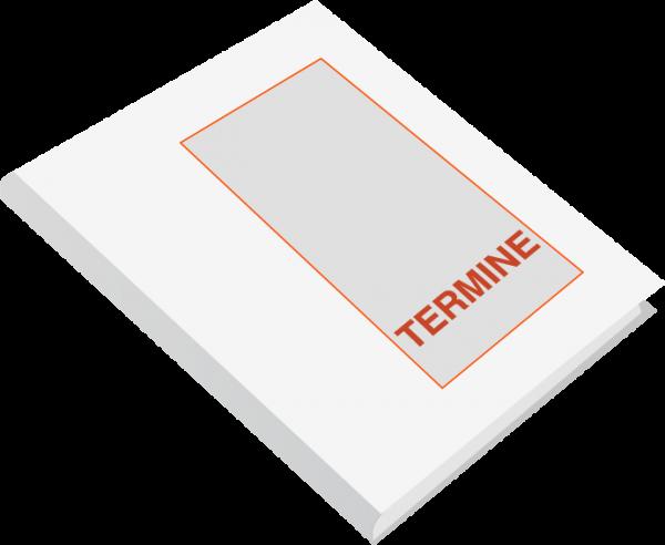 Terminplaner TB20, Mo.-Fr., 2 Spalten, 10 Min.-Takt, eine Doppelseite/Woche, 9 Std/Tag