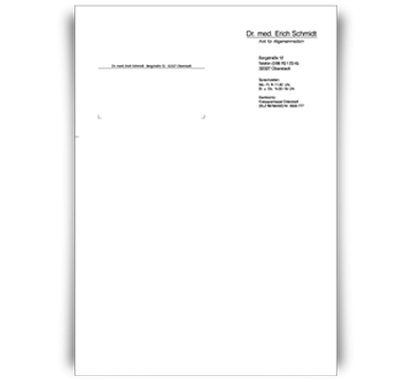 Briefbogen Basic, DIN A4