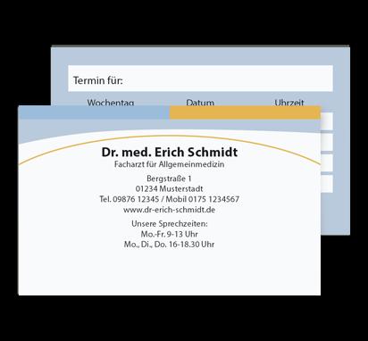 Terminkarte Future, Scheckkartenformat