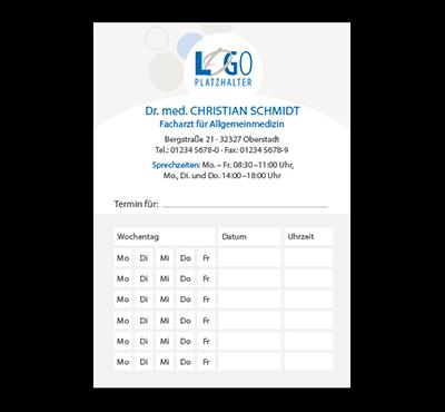 Terminzettel Moskau, DIN A7, mit Eindruck