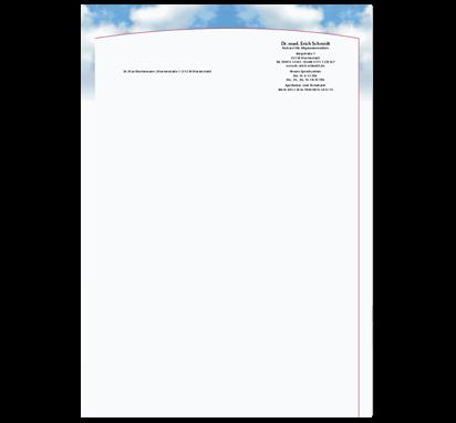 Briefbogen Cumulus, DIN A4
