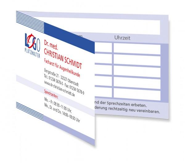 Terminkarte Kapstadt, Scheckkartenformat