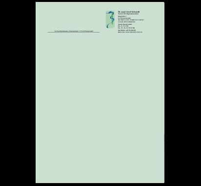 Briefbogen Äskulap, DIN A4