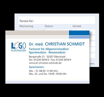 Terminkarte Wagenfeld, Scheckkartenformat