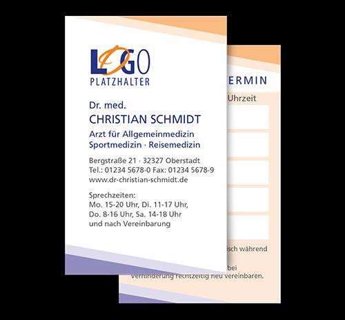 Terminkarte Hamburg, Scheckkartenformat