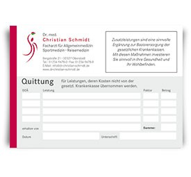 Individuelle Quittung