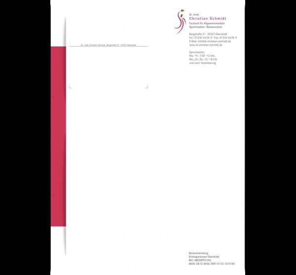 Individuell gestaltetes Briefpapier oder Anamnesebogen