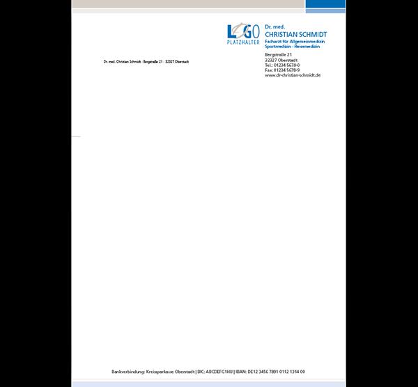 Briefbogen Wagenfeld, DIN A4