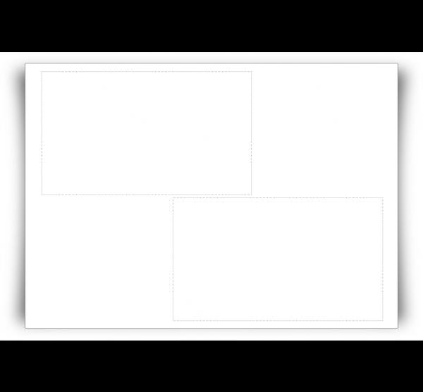 Adressfeldetiketten E4K4B, Blanko