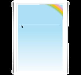 Privatrezept Rainbow, DIN A6, ohne Eindruck