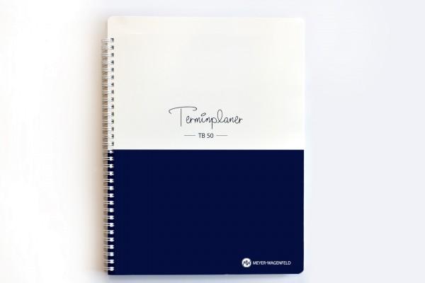Terminplaner TB50, Vor- u. nachmittags-Aufteilung, 12 Std./Tag, 10 Min.-Takt, 4 Spalten