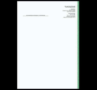 Briefbogen Green Line, DIN A4