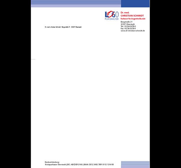 Briefbogen Kapstadt, DIN A4