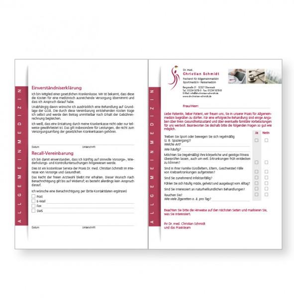 Ihr individueller Einleger für WAKI-Mappe, 4-seitig, DIN A5