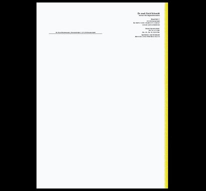 Briefbogen Yellow Line, DIN A4