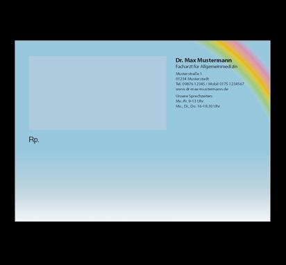 Privatrezept Rainbow, DIN A6, mit Eindruck