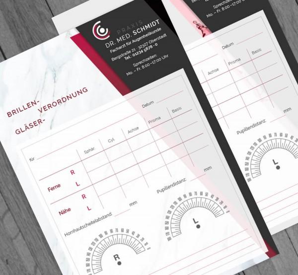 Individueller Befundbericht für Augenärzte, DIN A5