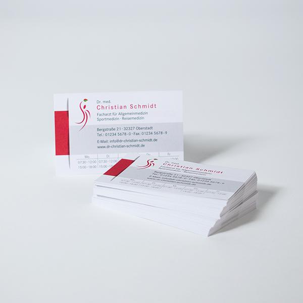 Visitenkarten Für ärzte Heilpraktiker Und Andere Heilberufe