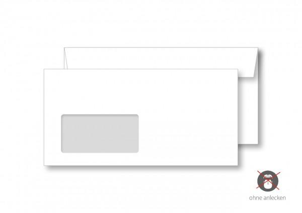 Briefumschlag, DIN lang, mit Fenster, ohne Eindruck