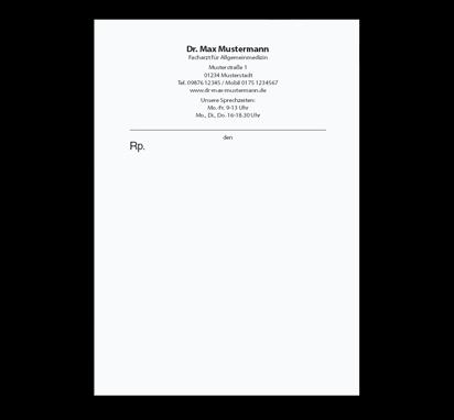Privatrezept Basic, DIN A6, mit Eindruck