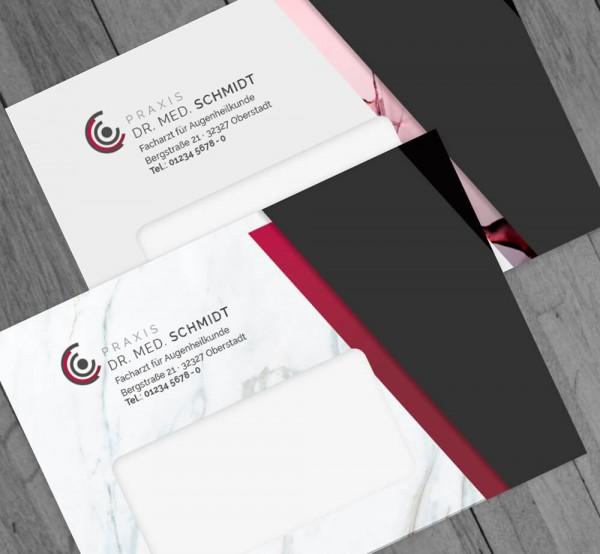 Ihr individueller Briefumschlag, DIN C6, mit Fenster, mit Eindruck